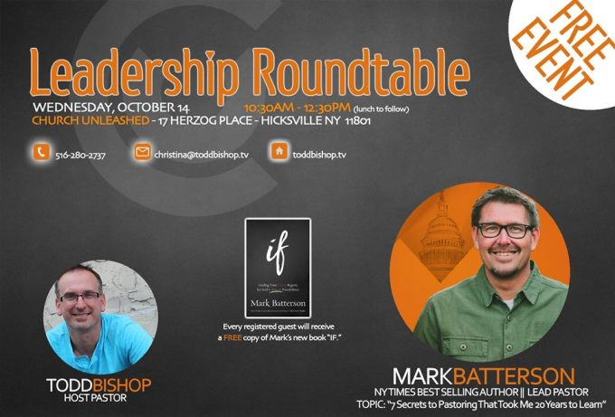 Roundtable with Mark Batterson