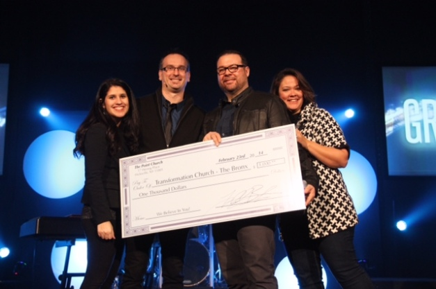 Point Church gives to Transformation Church