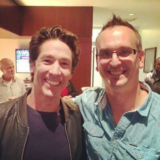 Todd Bishop & Joel Osteen at Yankees Game